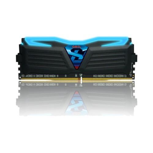 GeIL Super Luce DDR4-2400MHz 4GB Desktop RAM (Blue Light)-Black-500×500